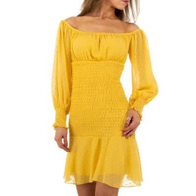 Minikleid für Damen in Gelb