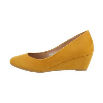 Keilpumps für Damen in Gelb