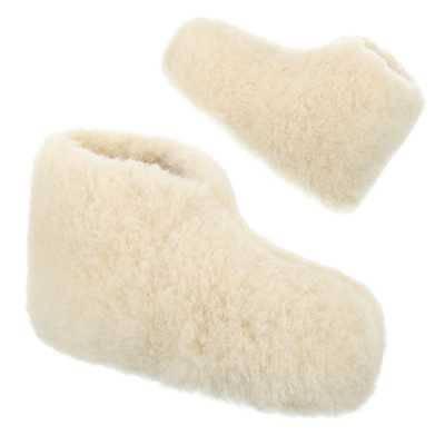 Warm Gefütterte Damen Hausschuhe Weiß