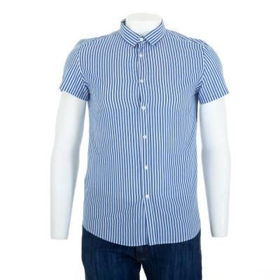 Hemd für Herren in Blau und Weiß