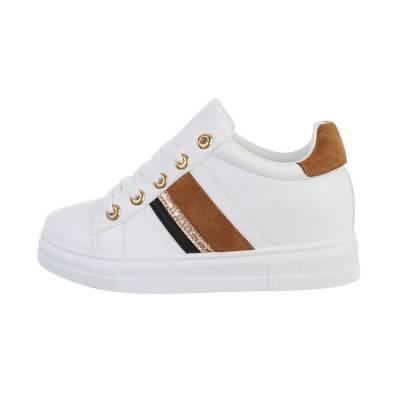 Sneakers low für Damen in Weiß und Braun