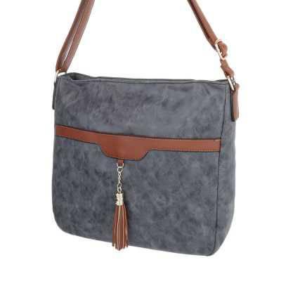 Mittelgroße Damen Tasche Schwarz Grau