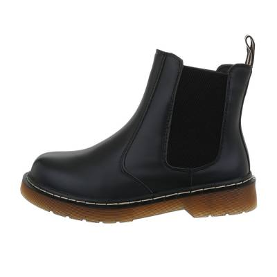 Chelsea Boots für Damen in Schwarz und Beige