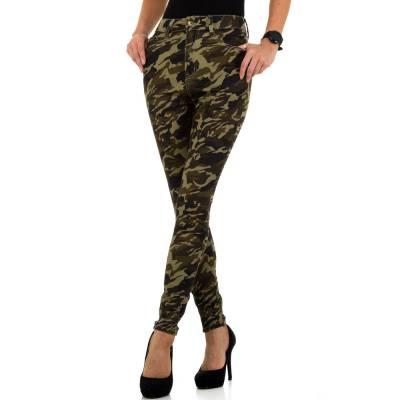 High Waist Jeans für Damen in Grün