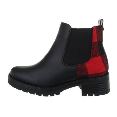 Chelsea Boots für Damen in Schwarz und Rot