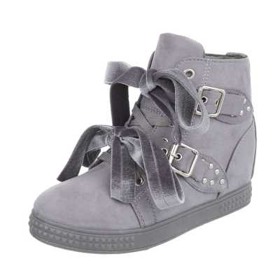 Sneakers high für Damen in Grau
