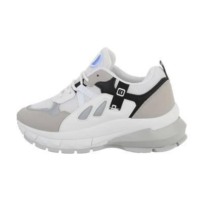 Sneakers low für Damen in Weiß und Grau