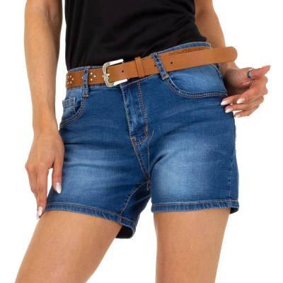Jeansshorts für Damen in Blau und Blau