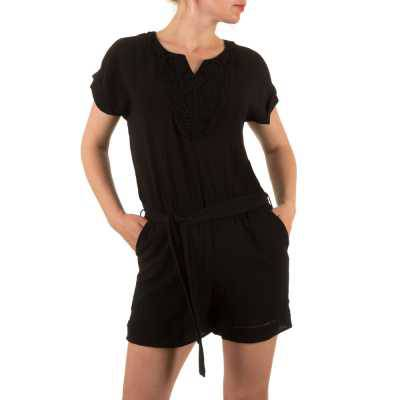Kurzer Jumpsuit für Damen in Schwarz