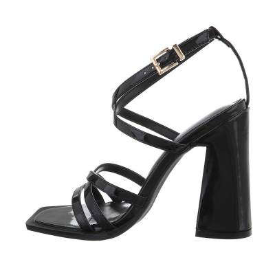 High-Heel Sandaletten für Damen in Schwarz