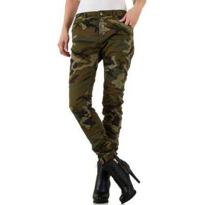 Boyfriend Jeans für Damen in Grün