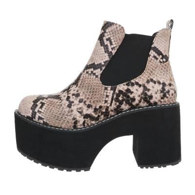 High Heel Stiefeletten für Damen in Braun und Schwarz