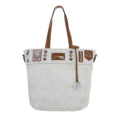 Große Damen Tasche Hellgrau