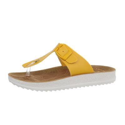 Zehentrenner für Damen in Gelb
