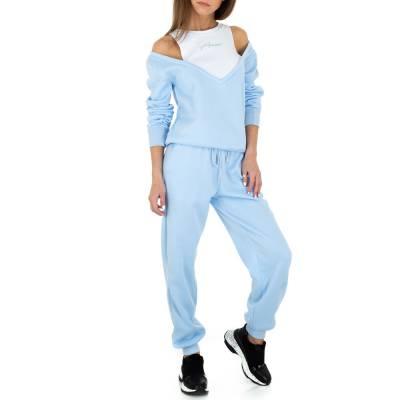 Jogging- & Freizeitanzug für Damen in Blau und Weiß