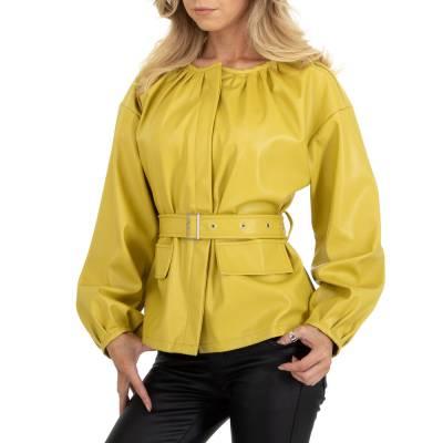 Übergangsjacke für Damen in Grün und Gelb