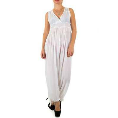 Langer Jumpsuit für Damen in Weiß