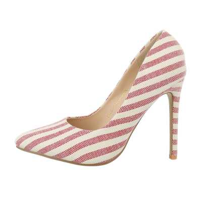High Heel Pumps für Damen in Beige und Rot