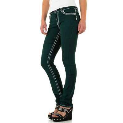 Straight Leg Jeans für Damen in Grün