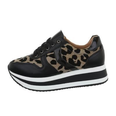 Sneakers low für Damen in Schwarz und Gold