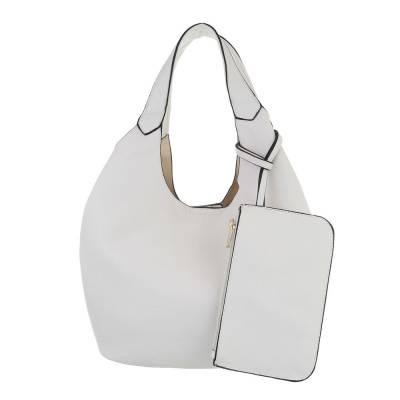 Beuteltasche für Damen in Weiß