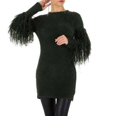 Longpullover/Tunika für Damen in Grün