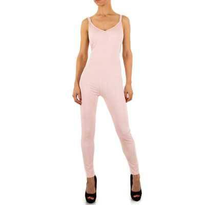 Langer Jumpsuit für Damen in Rosa