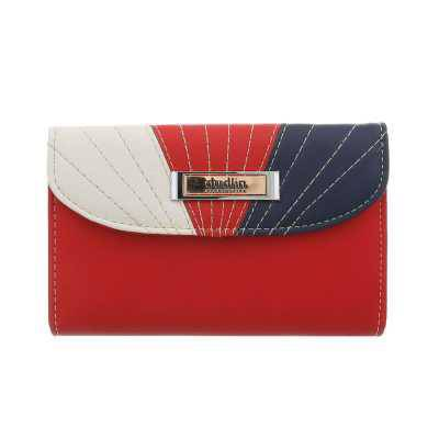 Portemonnaie Damen Geldbörse Rot Multi