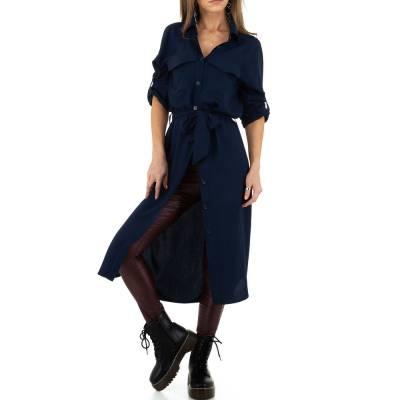 Longbluse für Damen in Blau