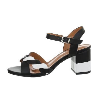High Heel Sandaletten für Damen in Schwarz und Weiß