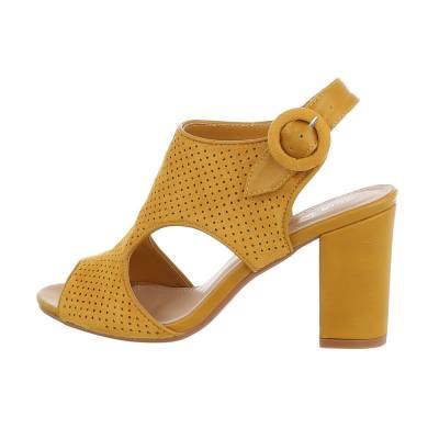 High Heel Sandaletten für Damen in Gelb