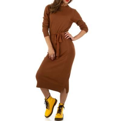 Strickkleid für Damen in Braun