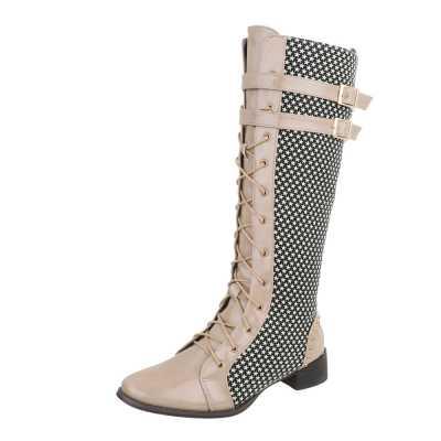 Flache Stiefel für Damen in Mehrfarbig