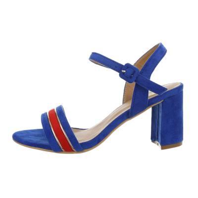 High Heel Sandaletten für Damen in Blau und Rot