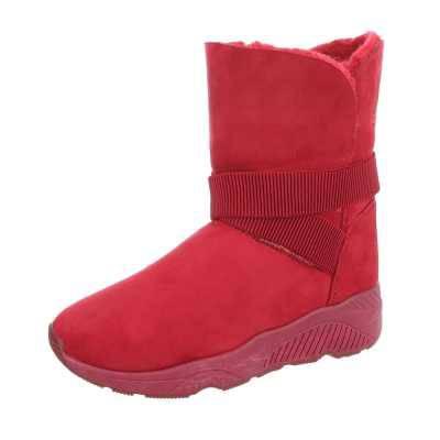 Plateaustiefeletten für Damen in Rot