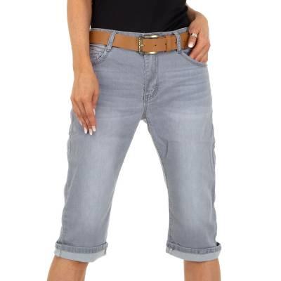 Straight Leg Jeans für Damen in Grau und Grau