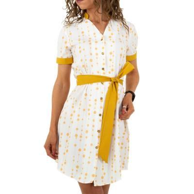 Blusenkleid für Damen in Gelb