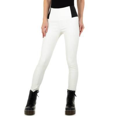 Hose in Lederoptik für Damen in Weiß