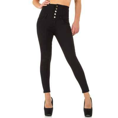 High Waist Jeans für Damen in Schwarz