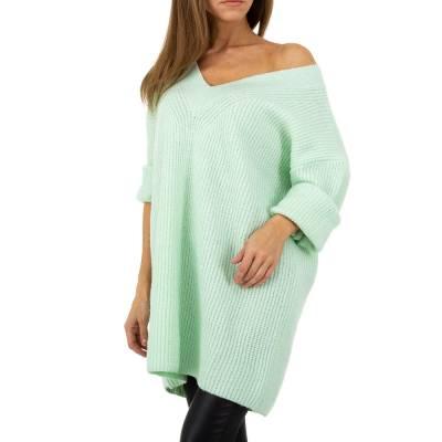 Longpullover für Damen in Grün