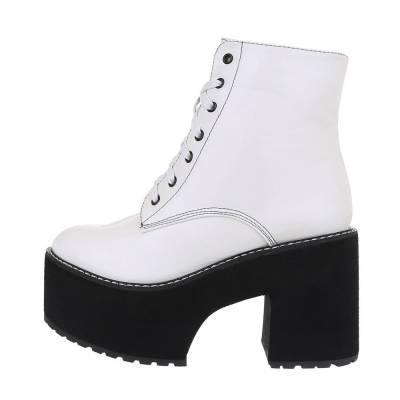 High Heel Stiefeletten für Damen in Weiß und Schwarz