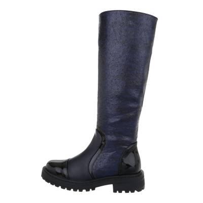 Klassische Stiefel für Damen in Blau