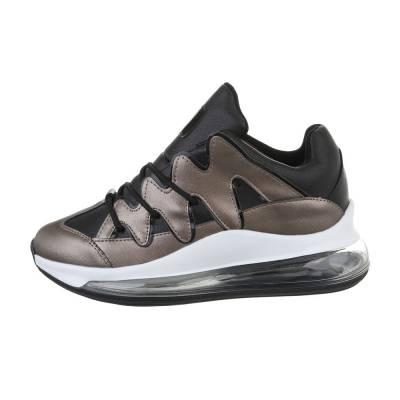 Sneakers low für Damen in Grau und Schwarz
