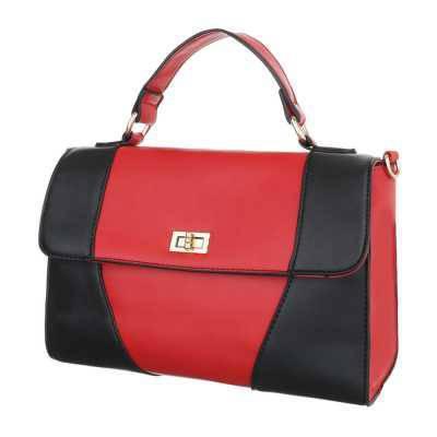 Kleine Damen Tasche Rot Schwarz
