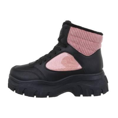 Sneakers high für Damen in Schwarz und Rosa