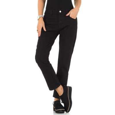 Relaxed Fit Jeans für Damen in Schwarz