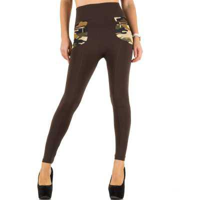 Thermo-Leggings für Damen in Braun