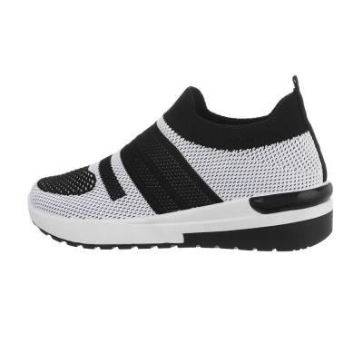 Sneakers low für Damen in Schwarz und Grau