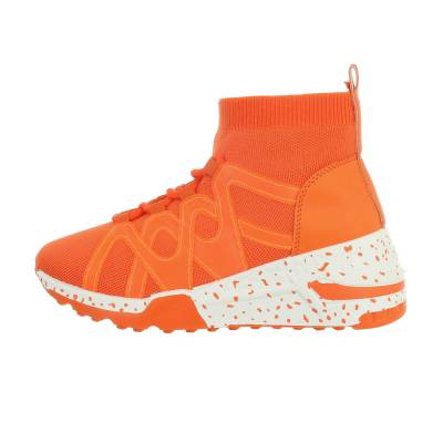 Sneakers high für Damen in Orange