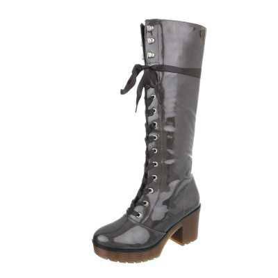 High Heel Stiefel für Damen in Grau